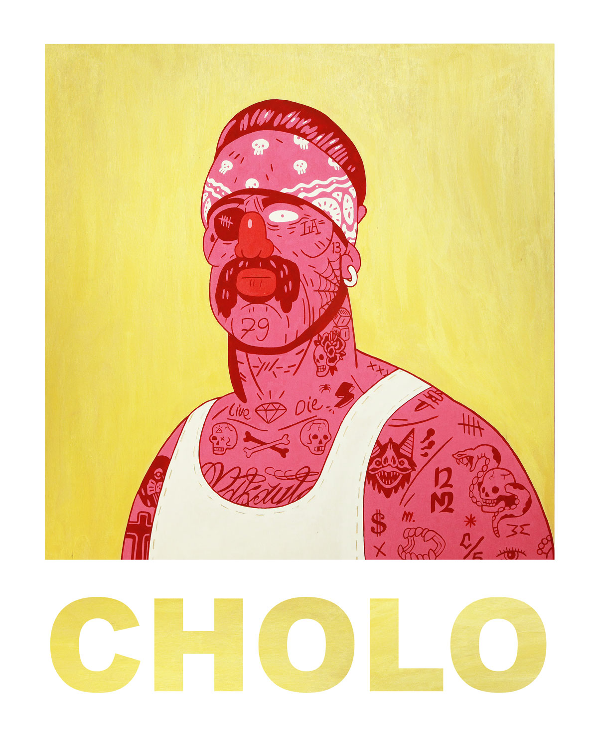 CHOLO - Gouache on wood
