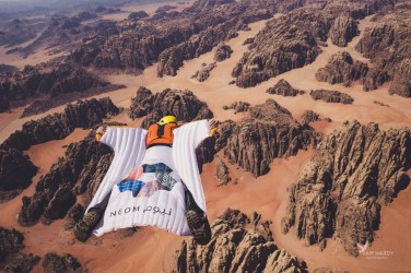 Wingsuitpilots: Douggs Picture by Sam Hardy