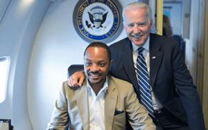 Senator Darius Brown pictured with Joe Biden. Date of Photo unknown. Courtesy of https://www.dariusbrown.com/