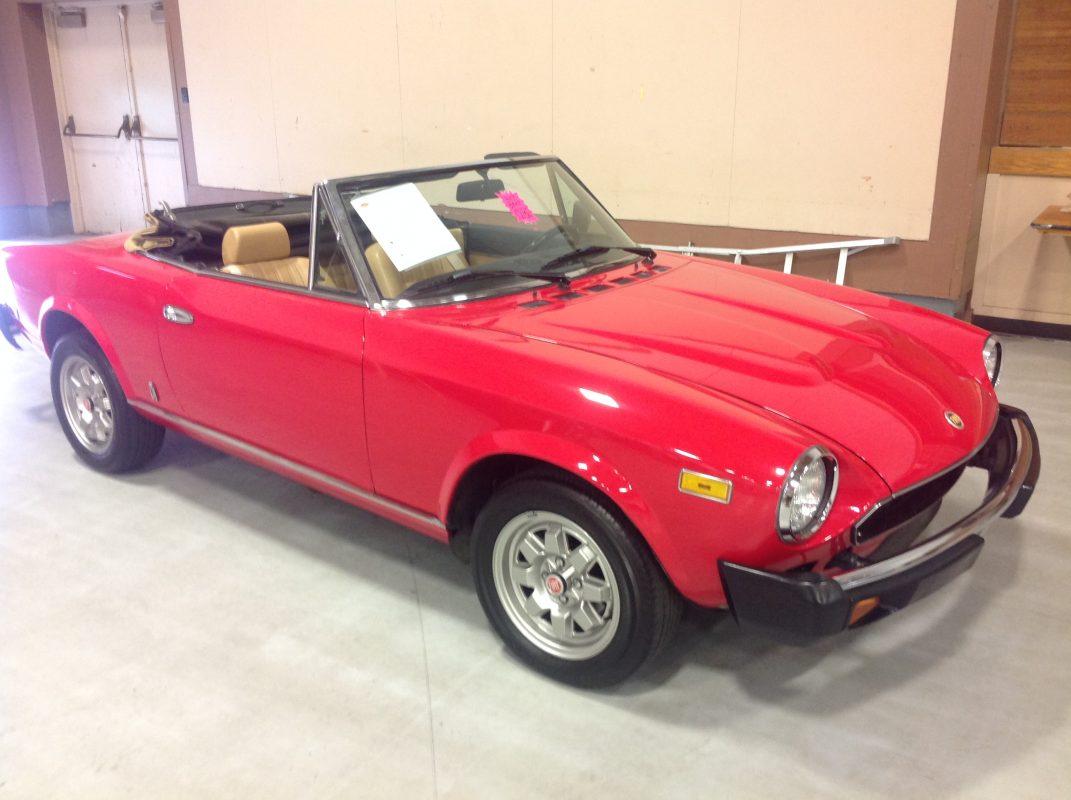 1981 Fiat Spyder Convertible    Red