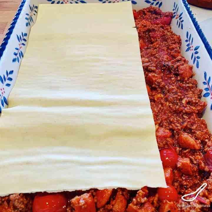 Assembling Lasagna