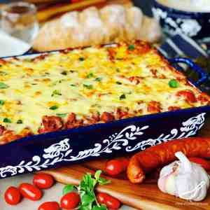 Meat Lasagna Recipe with Chorizo