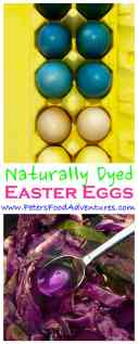 How to make colorful DIY Easter Eggs without harsh dyes or chemicals, using ingredients you already have like red cabbage, turmeric and onion peels - Naturally Dyed Easter Eggs