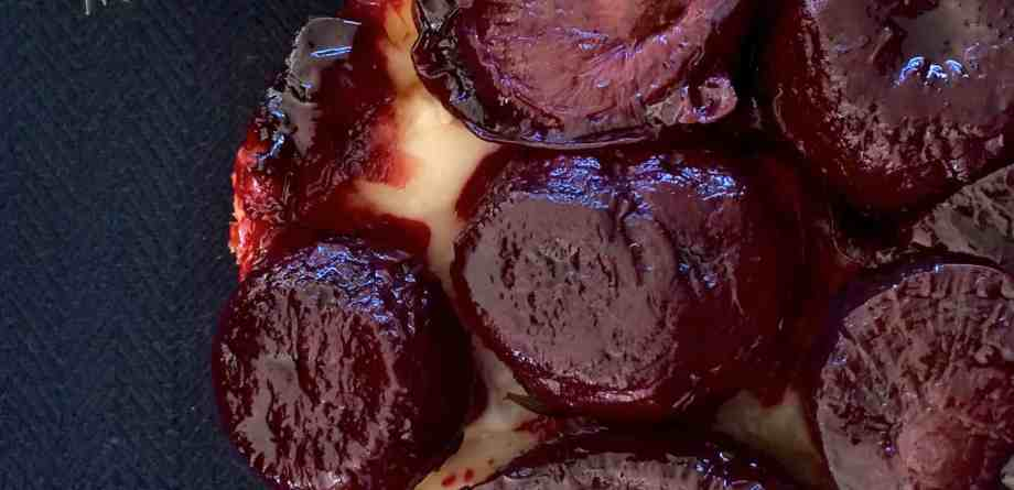 Caramelized Beet and Onion Tarte Tatin