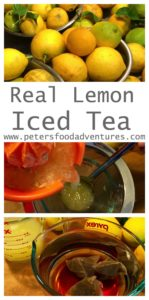 Real Iced Lemon Sweet Tea. This classic recipe perfect for the summer. So easy to make with freshly squeezed lemons and black tea! Iced Tea Recipe