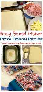 Making this bread maker pizza dough recipe will save your time and money, and provide you with better tasting pizzas - Bread Maker Pizza Dough Recipe with Caramelized Onion, Mushroom and Bacon made from Scratch
