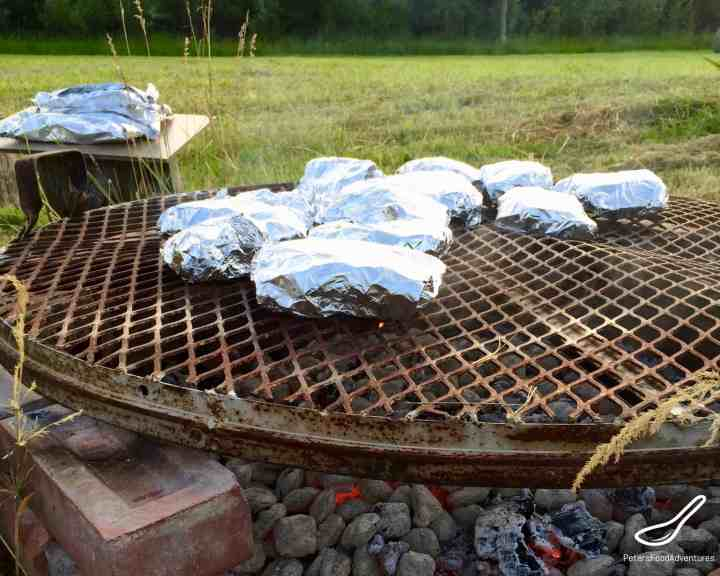 Grilled Fish Parcels Camping