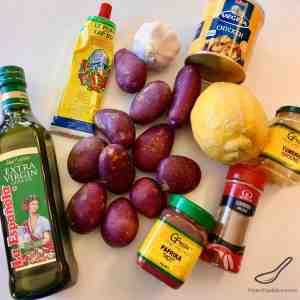 Moroccan Potatoes Ingredients