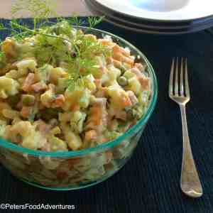 Olivye Salad Recipe (салат Оливье) - Russian Potato Salad Recipe