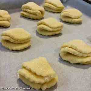 """Goose's Feet Cookies "" (Гусиные Лапки) - Farmer's Cheese Cookies"