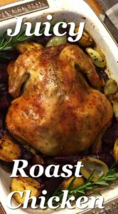 I love this recipe! So simple, yet full of flavour with lemon, rosemary and thyme. Crispy skin on the outside and juicy on the inside. Winner Winner Chicken Dinner! The Secret Juicy Roast Chicken Recipe with Lemon and Rosemary