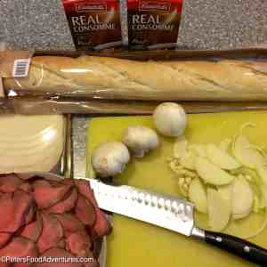 French Dip with Easy Au Jus Recipe ingredients