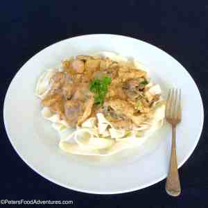 Rita's Chicken Stroganoff Recipe (Бефстроганов из курицы)