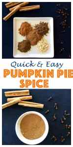 Easy to make, only 5 ingredients! Never buy thanksgiving spice again! Homemade Pumpkin Pie Spice Recipe.