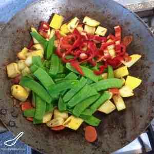Pattypan Squash & Beef Stir Fry