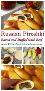 Baked Not Fried! A Classic Russian Meat Pie Stuffed with Ground Beef. Baked Piroshki (Пирожки в духовке с мясом)
