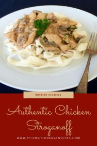 Authentic & Delicious, like my babushka made! This is the best Chicken Stroganoff recipe. Like beef stroganoff, only chicken! Chicken Stroganoff Recipe (Бефстроганов из курицы)
