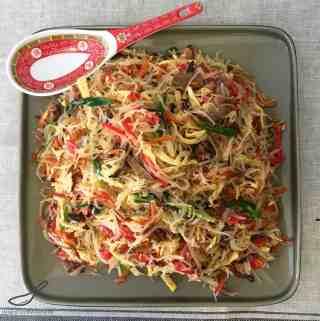 Funchoza Salad Recipe (Фунчоза)