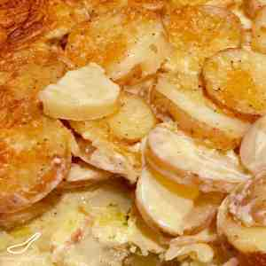I Love This! Delicious and Easy to Make. Cheesy Scalloped Potatoes with Parmesan Cheese.