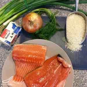 Salmon Kulebyaka Coulibiac (Кулебяка)