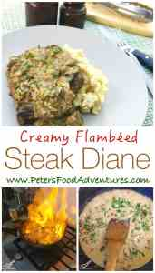 A classic! Smooth and creamy brandy steak sauce or gravy, with an easy to follow recipe. Steak Diane Sauce with Mushrooms