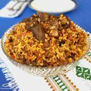 A Russian comfort food, easy to make, one pot rice recipe - Plov (Плов) or Palava
