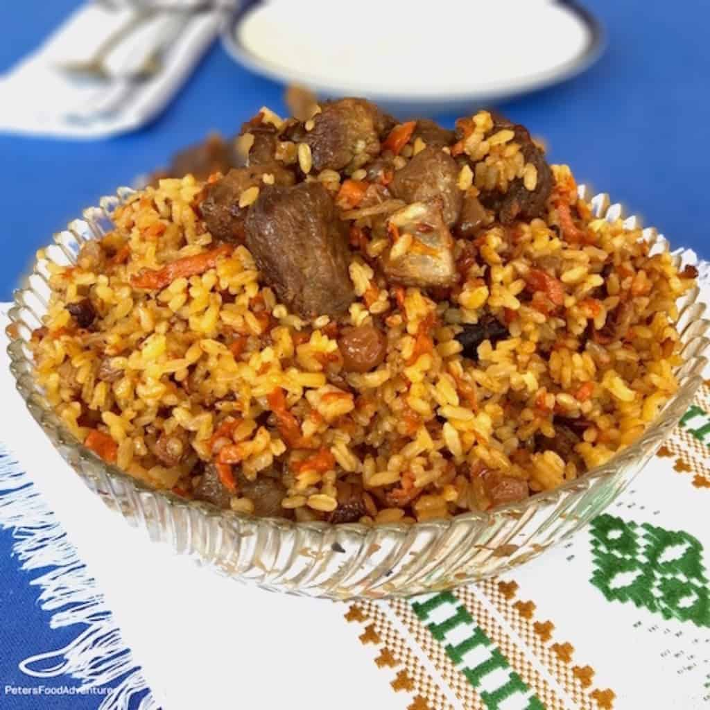Palava pilaf recipe peters food adventures a russian comfort food easy to make one pot rice recipe plov forumfinder Image collections