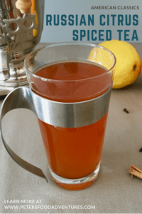 Made with Real Tea Bags, oranges, lemons and spices. This Delicious Citrus Spiced Russian Tea Recipe is Easy to Make and a Holiday Treat - Spiced Russian Tea Recipe