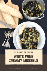 This delicious Mussels in a Creamy White Wine Sauce is easy to make and sure to impress with wine, cream, garlic and mushrooms. It's a keeper!