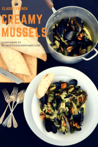 This delicious Mussels in a Creamy White Wine Sauce recipe is easy to make and sure to impress. It's a keeper!