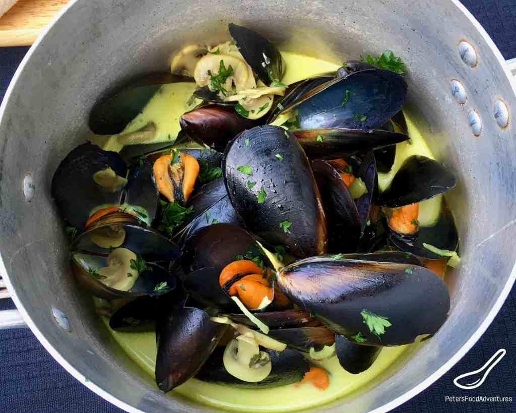 French Mussels in Wine
