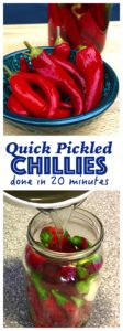 Quick Pickled Chillies are a great condiment for punching up the flavour of burgers, Asian soups, noodles, stir frys.