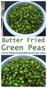 Best Side Dish Ever! Tender Yet Crispy, Fried Green Peas Sautéed in Butter. Fried Green Peas (Жареный зеленый горох)