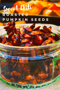 This sweet and spicy roasted pumpkin seed recipe is a delicious snack with amazing health benefits - Sweet Chili Roasted Pumpkin Seeds