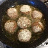 Beef Kotleti with Potato (Russian Meatballs) Котлеты