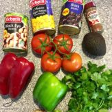 Cowboy Caviar Bean Salad ingredients