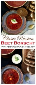 Authentic Beet Borscht with cabbage and potatoes. Easy, delicious and heartwarming. Borscht is so popular, that it was even eaten by Soviet cosmonauts in space. Russian Beet Borscht Recipe (Борщ)