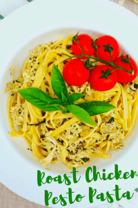 This recipe is great when you're in a hurry, and somehow have to make a delicious dinner appear quickly. Like magic. Easy Basil Pesto Chicken Recipe #supermom