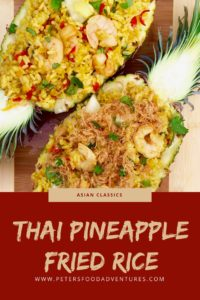 Authentic Thai Pineapple Fried Rice. Easy to make and delicious!