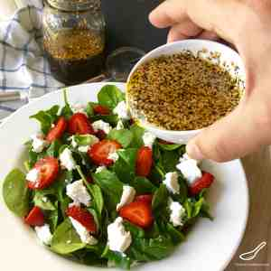 Strawberry Spinach Salad with Goat Cheese