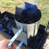 Russian Shashlik Recipe (Шашлык) mangal charcoals