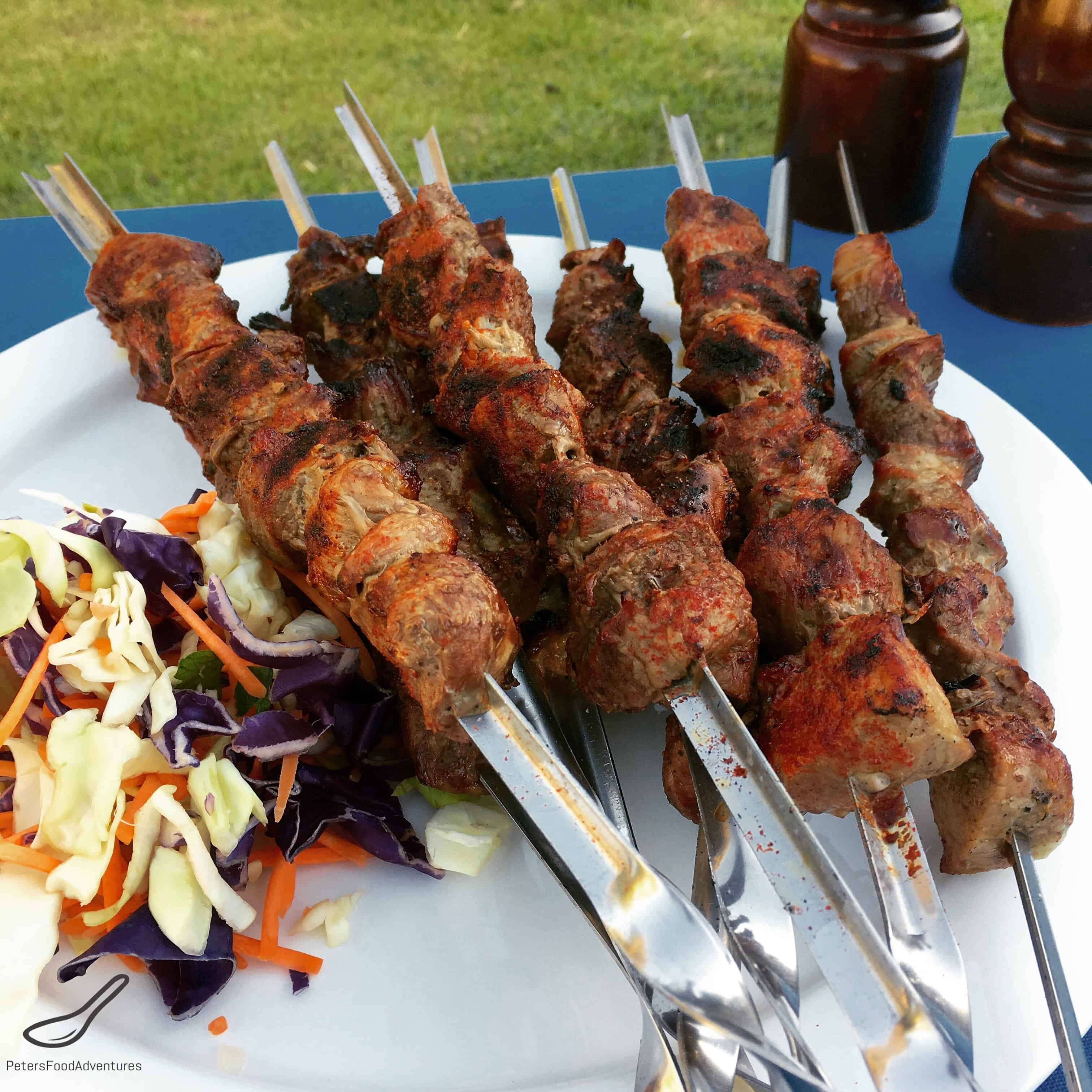 How to Marinate Shish Kebab in Vinegar and Sesame Dressing 77