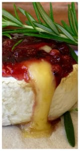 Baked Brie with Lingonberry (брусника) I love this classic holiday appetizer for Thanksgiving and Christmas. Quick and easy to make, sweet and savory combined with melted gooey cheese (tastes better than Cranberry Baked Brie!)