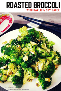 Roasted Broccoli with Garlic and Soy Sauce is super easy and delicious. Chinese style, oven roasted, flavourful and packed full of vitamins. The best broccoli side dish you ever had!