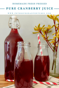 A delicious and refreshing homemade pressed juice made from fresh cranberries (not heat treated), full of vitamins, sweetened with sugar or honey. A Russian classic cranberry juice for over 500 years, perfect for the holidays - Cranberry Mors Drink (морс)