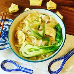 Chicken Wonton Noodle Soup Recipe