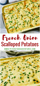 A creamy, cheese scalloped potato casserole that only uses 4 ingredients. So easy to make, yet packed full of flavor - Potato Bake with French Onion Soup
