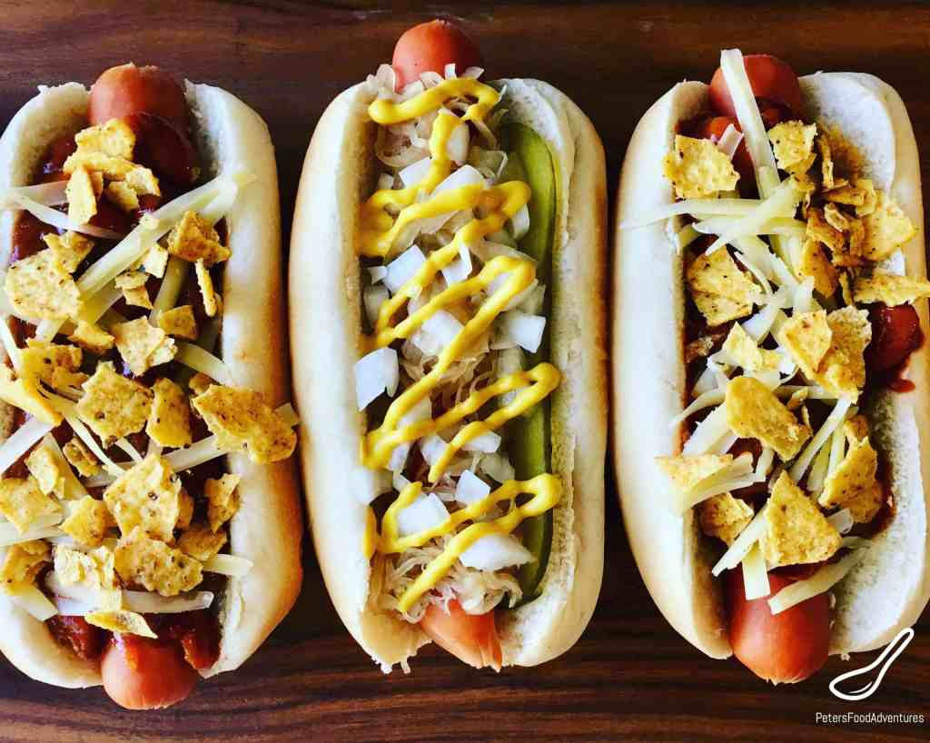 Chili Dogs with cheese, doritos and jalapenos