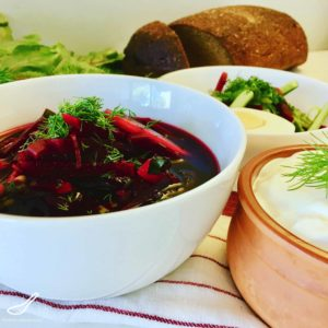 Classic Svekolnik Soup (Свекольник) is simply a cold vegetarian borscht recipe without cabbage, much loved and full of vitamins. Like Holodnik or Okroshka, or Gazpacho, cold summer soups are perfect on a hot summer's day. A vegetarian and Vegan dinner. In Russia, it's all about the beets.