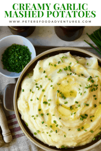 This classic garlic mashed potato recipes is so creamy and fluffy. Absolutely a family favourite dinner side, perfect for Thanksgiving for Christmas or everyday! Creamy Garlic Mashed Potatoes Recipe